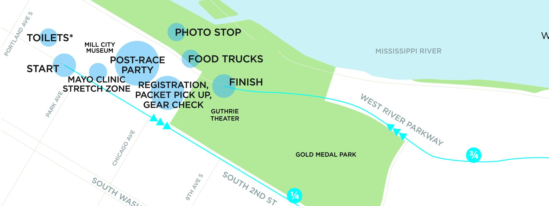 2018 Medtronic TC 1 Mile Map