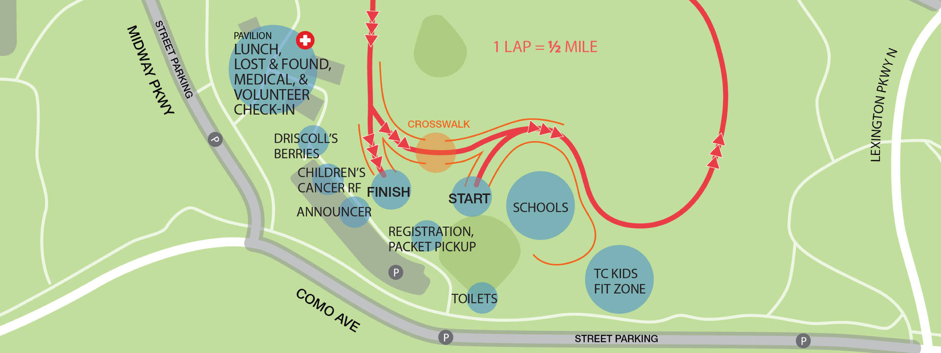 Cross Country TC Kids Course Map