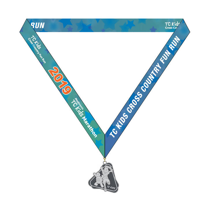 TC Kids Cross Country Fun Run Medal 2019