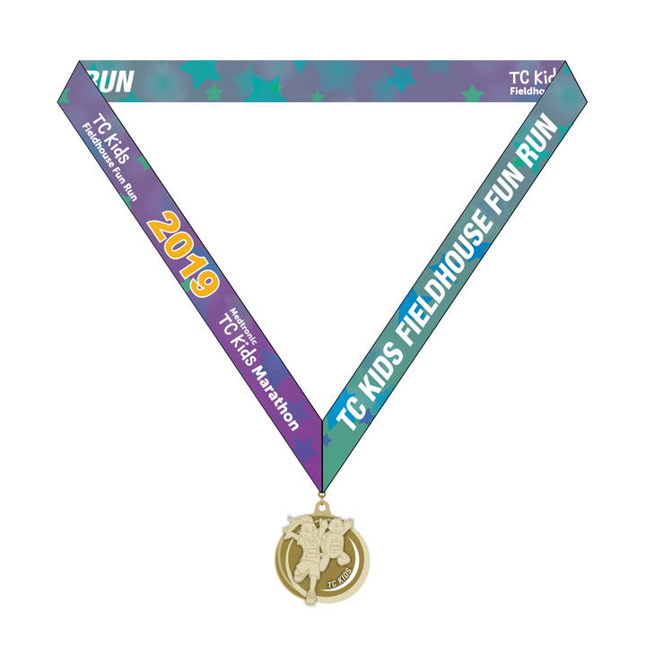 TC Kids Fieldhouse Fun Run Medal 2019